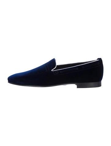 Alberto Moretti Arfango Velvet Loafers