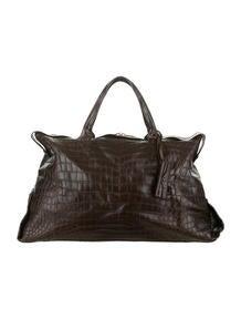 Bottega Veneta Crocodile Duffel Bag