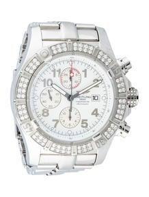 Breitling Aeromarine Super Avenger Diamond Automatic Chronograph Watch