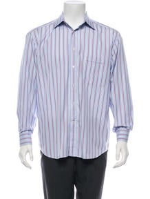 Canali Striped Button-Up