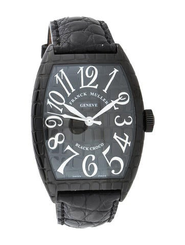Franck Muller Black Croco Watch