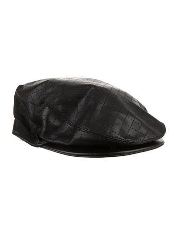 Gucci Leather Newsboy Cap