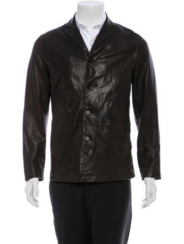 John Varvatos Leather Blazer