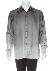 Prada Silk Button-Up Shirt ...