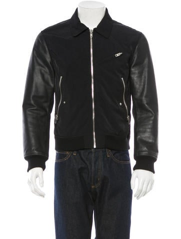 Acne Leather Panel Jacket