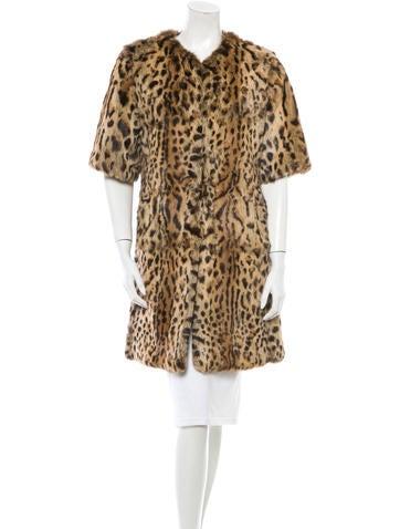 Adrienne Landau Leopard Print Fur Coat