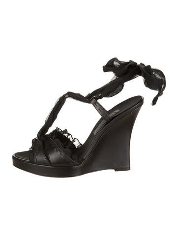 Alberta Ferretti Wedge Sandals