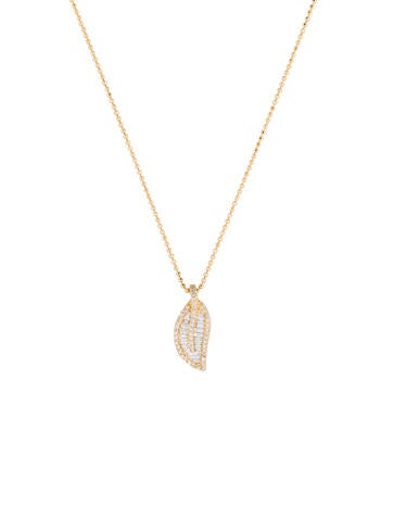 Anita Ko Diamond Leaf Necklace