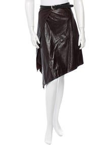 Ann Demeulemeester Leather Skirt