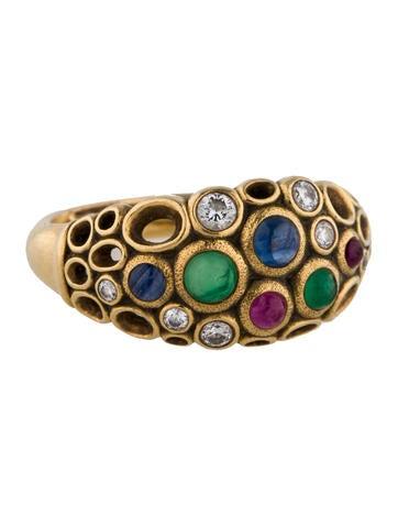 Alex Sepkus 18K Gemstone and Diamond Ring
