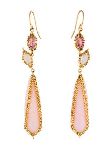 Anthony Nak Pink Opal Drop Earrings