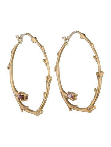 Anthony Nak Branch Hoop Earrings