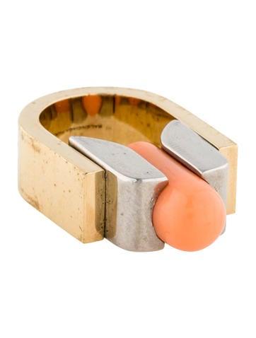 Balenciaga Orange Resin Ring