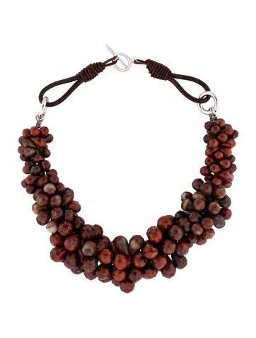 Brunello Cucinelli Jasper Beaded Necklace