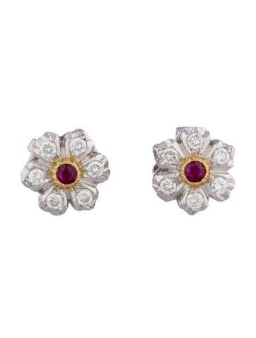 Buccellati Ruby and Diamond Earrings