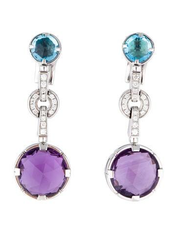 Bvlgari Amethyst Topaz en Diamond Earrings