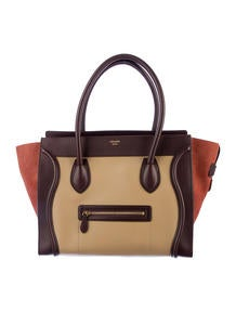 Céline Tricolor Shoulder Luggage