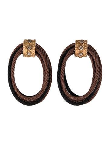 Charriol Drie-Two Diamond Rope Earrings