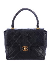 Chanel Quilted Lizard Kelly