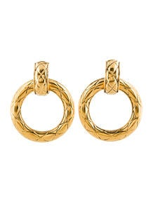Chanel Clip On Earrings