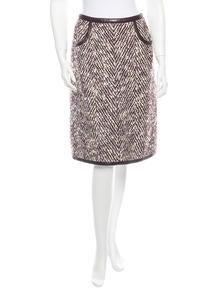 Chanel Identification Bouclé Skirt