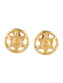 Chanel Star Medallion Earrings