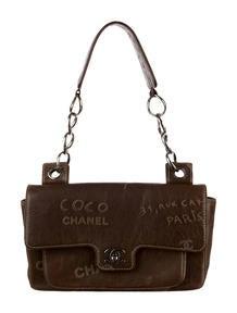 Chanel Graffiti Etched Flap Bag