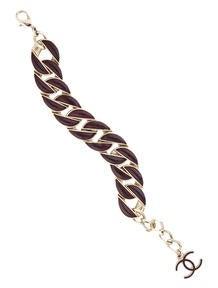 Chanel Leather Chain Bracelet