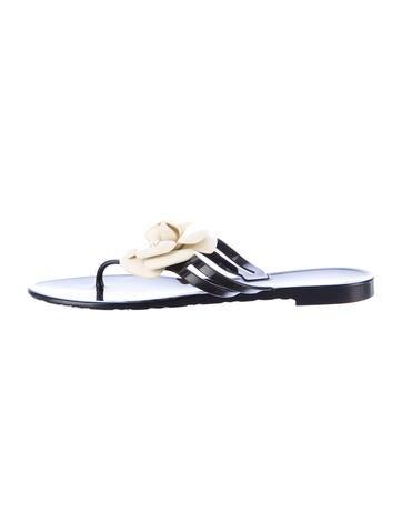 Chanel Camellia Sandals