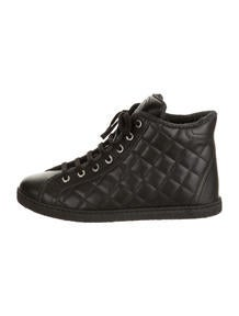 Chanel Quilted Lambskin Hightops