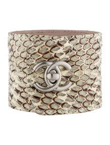 Chanel Snakeskin Cuff