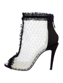 Chanel Peep-Toe Ankle Boots
