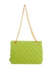 Chanel Bouclé Quilted Shoulder Bag