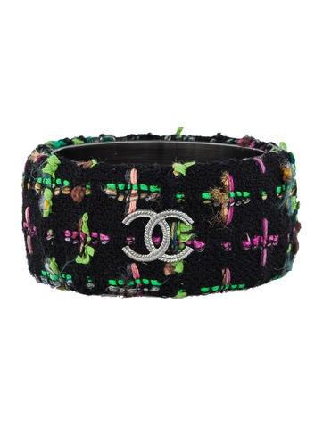 Chanel Tweed Bangle