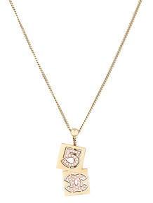 Chanel CC No. 5 Necklace