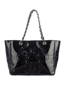 Chanel Patent Perforated Tote