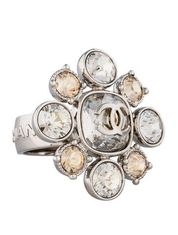 Chanel Crystal CC Ring