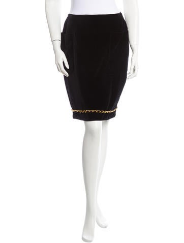 Chanel Velvet Skirt