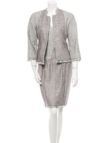 Chanel Bouclé Dress Suit