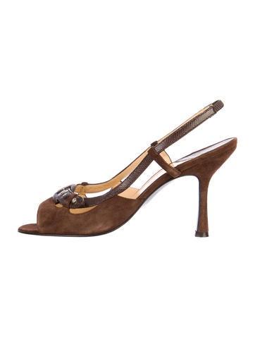 Chanel Suede Sandals