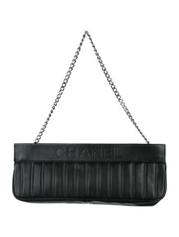 Chanel Vertical Quilted Clutch