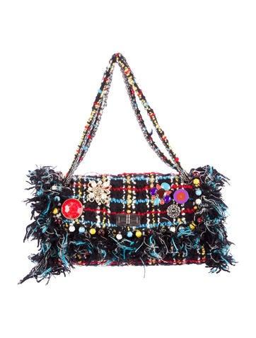 Chanel Embellished Tweed Flap Bag