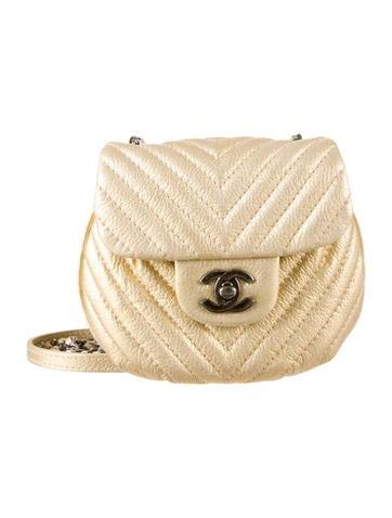 Chanel Chevron Ronde Flap Bag