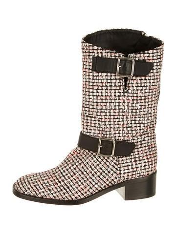 Chanel Bouclé Boots