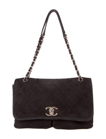 Chanel nubuck Flap Bag
