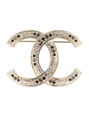 Chanel Crystal CC Broche