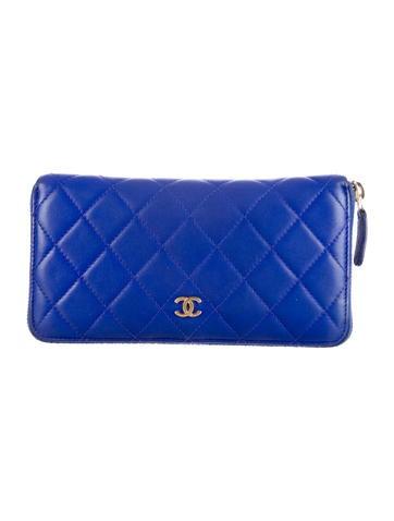 Chanel L Gusset Zip Wallet