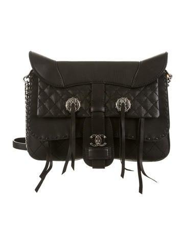 Chanel Paris-Dallas Fringe Saddle Bag