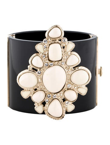 Chanel Embellished Resin Cuff