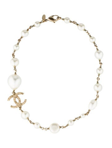 Chanel Pearl CC Choker Necklace